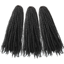 Marley Braids Hair 18inch Soft Jumbo Crochet Extensions Black Color Synthetic Braiding Pageup