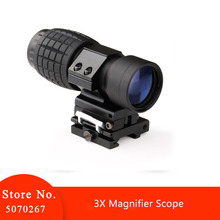 Element optical sight 3X lente d'ingrandimento mirino da caccia compatto mirino adatto per montaggio su guida per fucile da 20mm