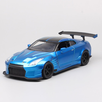 Kids 1/24 scale 2009 BRIAN'S NISSAN GTR R35 BEN SOPRA metal Diecasts & Toy Vehicles auto model car sports Blue for Collectible image