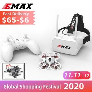 Image 1 - רשמי Emax Tinyhawk ערכת RTF Rc מטוס F4 4in1 3A 15000KV 37CH 25mW 600TVL VTX 1S מקורה FPV drone FRSKY D8 עם מתנה