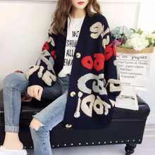2020 nova primavera outono do vintage designer de moda floral bordado cardigan manga longa solta único breasted knitt suéteres y339