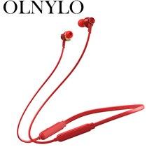 Fones de ouvido bluetooth neckband verdadeiro fones de ouvido sem fio estéreo esportes magnético com microfone ipx4 à prova dheadágua headsetf2
