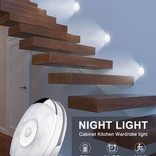 Led-Light Closet Night-Lamp Wardrobe Bedroom Motion-Sensor Under-Cabinet Kitchen-Stairs