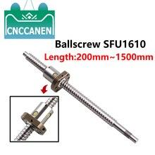 Ballscrew RM1610 SFU1610 Length 200 300 400 450 500 600 700 750 800 900 1000 1100 1200 1500mm End Support & Ballnut Housing CNC