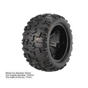 Image 4 - 4Pcs Felge und Reifen 150mm für 1/8 Monster Truck Traxxas HSP HPI E MAXX Savage Flux Racing RC auto Modell Spielzeug