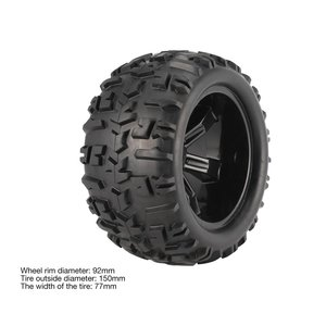 Image 4 - 4Pcs Wheel Rim e Pneumatici 150 millimetri per 1/8 Monster Truck Traxxas HSP HPI E MAXX Savage Flux Da Corsa del RC modello di auto Giocattoli
