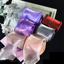 Kewgarden Bright Voile Ribbon 2 5.5cm DIY Baby Girls Hairbow Accessories Handmade Tape Packing Riband Wholesale 35 Meters kewgarden handmade tape 1 1 2 38mm thick soft cotton fabric satin ribbon diy bow tie brooch ribbons double face riband 8 meter
