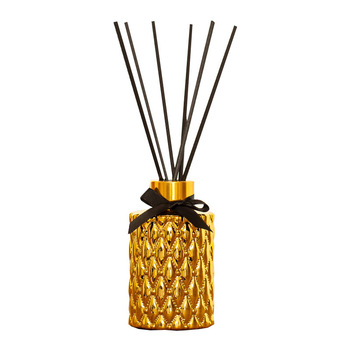Golden Glass 100ml  Aromatherapy Essential  Reed Oil Diffuser with Natural Sticks   2