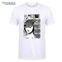 Uzumaki Cotton T Shirt Men Junji Ito Tees Horror Manga Tshirt Men Slim Fit Short T Shirt Discount Men'S Awesome Clothes Designs чемодан ito 24 20 28