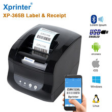 Xprinter365 Bluetooth Thermal Label Printer Barcode printer 80mm Thermal Receipt printer Support Thermal adhesive sticker Paper