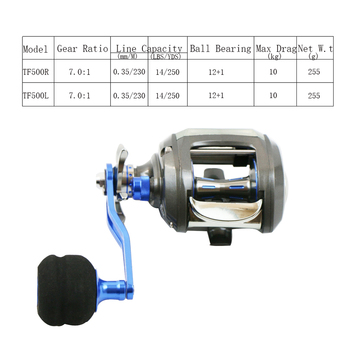AI-SHOUYU  Bastcasting Fishing Reel Aluminium Alloy Body Max Drag 10kg Centrifugal Brake System High Speed 7.0:1 EVA Handle