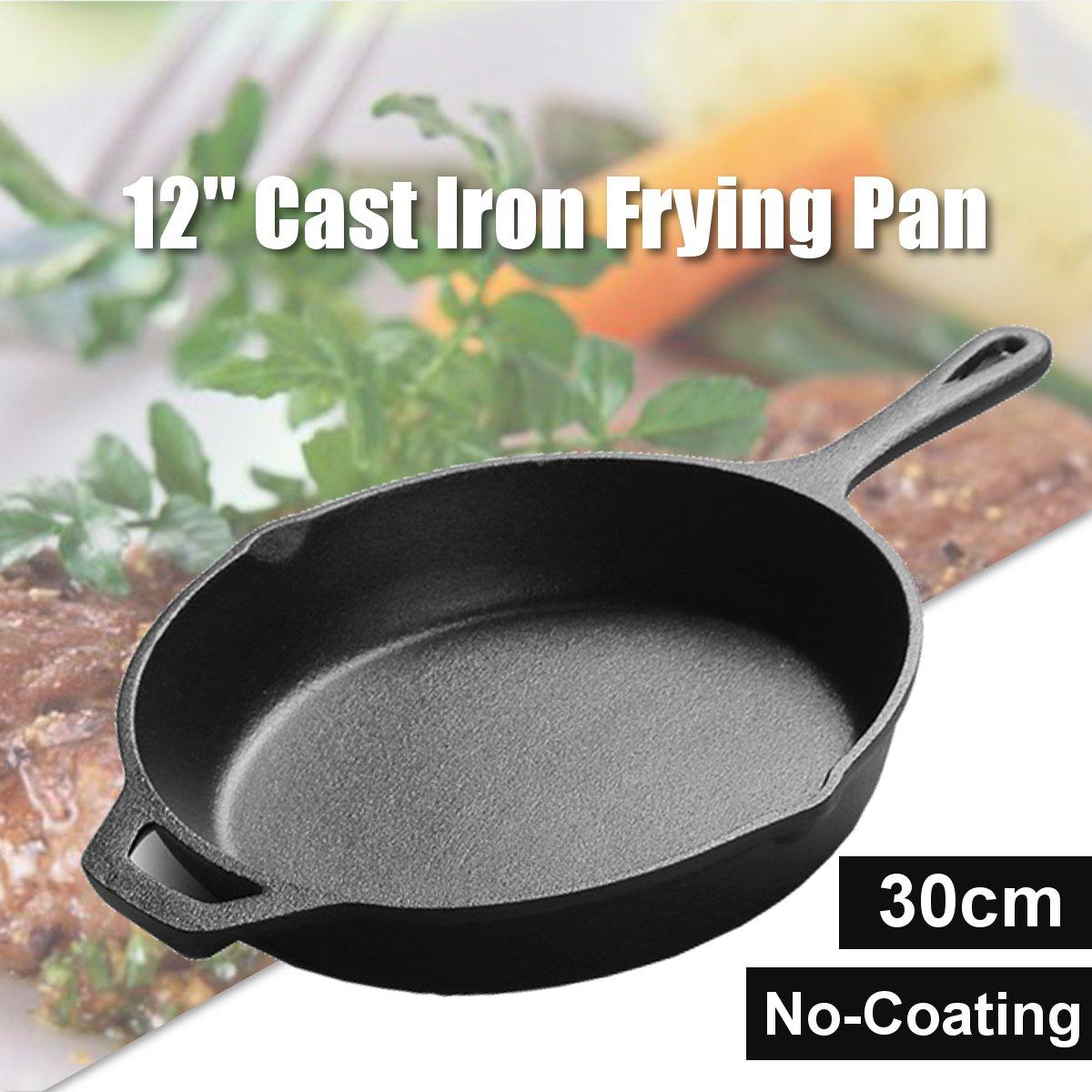 Poêle en fonte antiadhésive poêle multi-usages poêle à crêpes Steak Grill casserole marmite ustensiles de cuisine outils de cuisson - 2