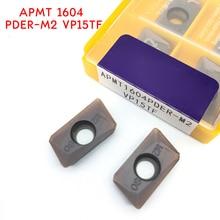 APMT1604 M2 VP15TF carbide inserts Turning tool APMT 1604 Face Mill Lathe Tools Milling cutter CNC tool APMT1604PDER sant indexable milling cutter mold milling tools bap400r 35 160 c32 3t match with cnc carbide inserts apmt1604pder
