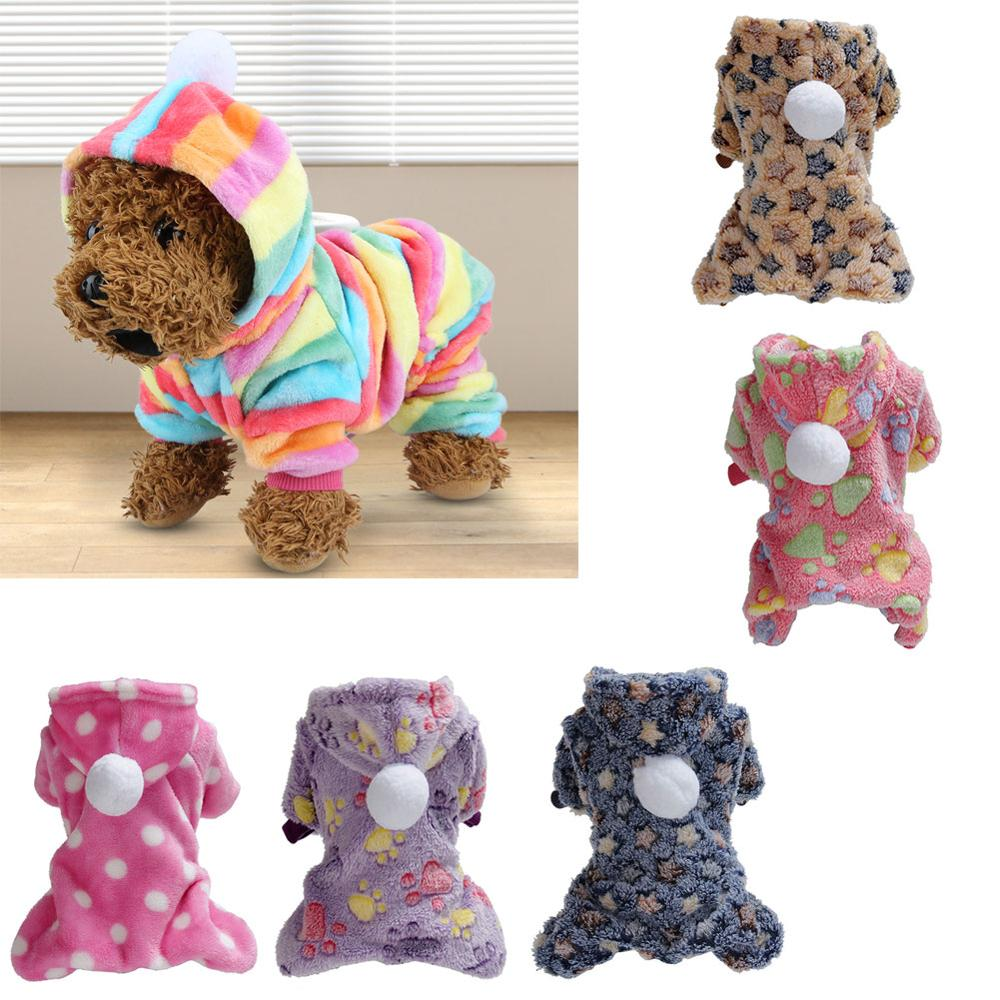 Soft Fleece Dog Jumpsuit Coat Winter Warm Dog Clothes For Small Dogs Chihuahua Pug Costume French Bulldog Clothing