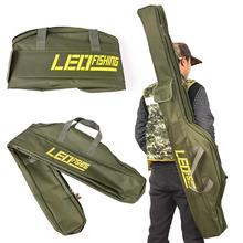 1.5m Portable Folding Fishing Rod Bag Carrier Canvas Fish Pole Storage Shoulder