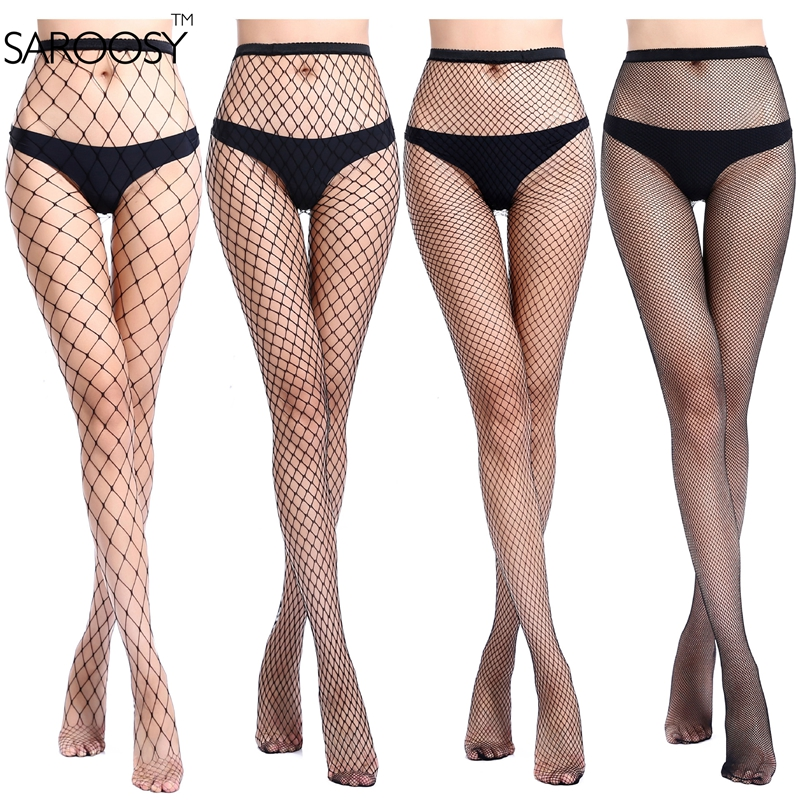 SAROOSY <font><b>2017</b></font> New <font><b>Sexy</b></font> Fishnet <font><b>High</b></font> Elastic Tights for Women Nightclub Pantyhose Stockings Four Size of The Net To Choice image