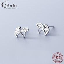 Ginin 925 стерлингового серебра серьги гвоздики для женщин 2021