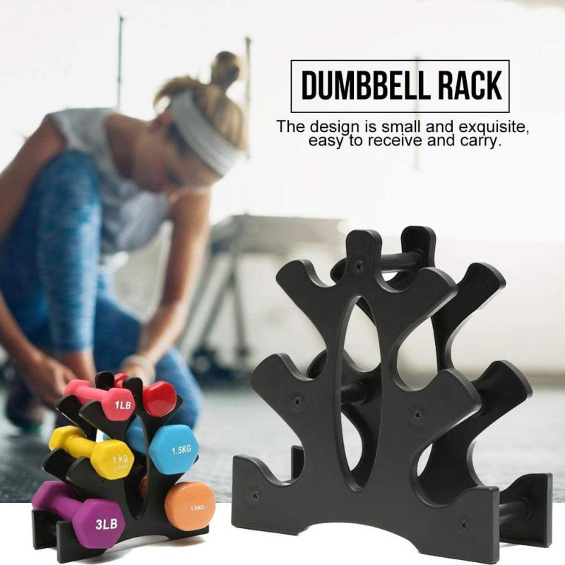Dumbbell Rack Three-dimensional Tripod Design Dumbbell Bracket  Fitness Dumbbell Bracket Bracket Home Sports Equipment Hot Sale