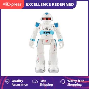 Pilot Robot wielofunkcyjny USB ładowanie zabawki dla dzieci RC Robot będzie śpiewać taniec figurka czujnik gestów Robot tanie i dobre opinie CN (pochodzenie) Muzyka Ready-to-go Electric 5-7 lat 2-4 lat 8 ~ 13 Lat