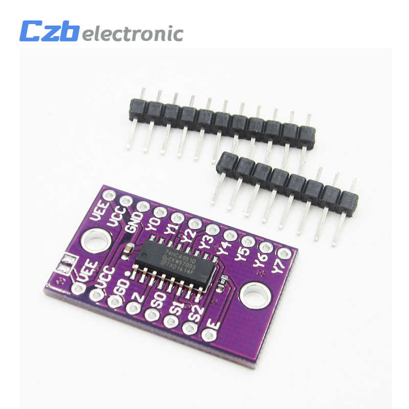 1PCS 74HC4051 8-channel analog multiplexer//demultiplexer  X