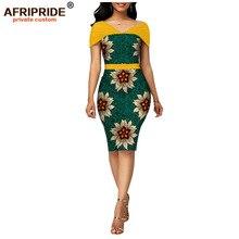 Cire africaine été robes moulantes pour les femmes AFRIPRIDE sur mesure manches réglables genou longueur femmes robe de soirée A1925006