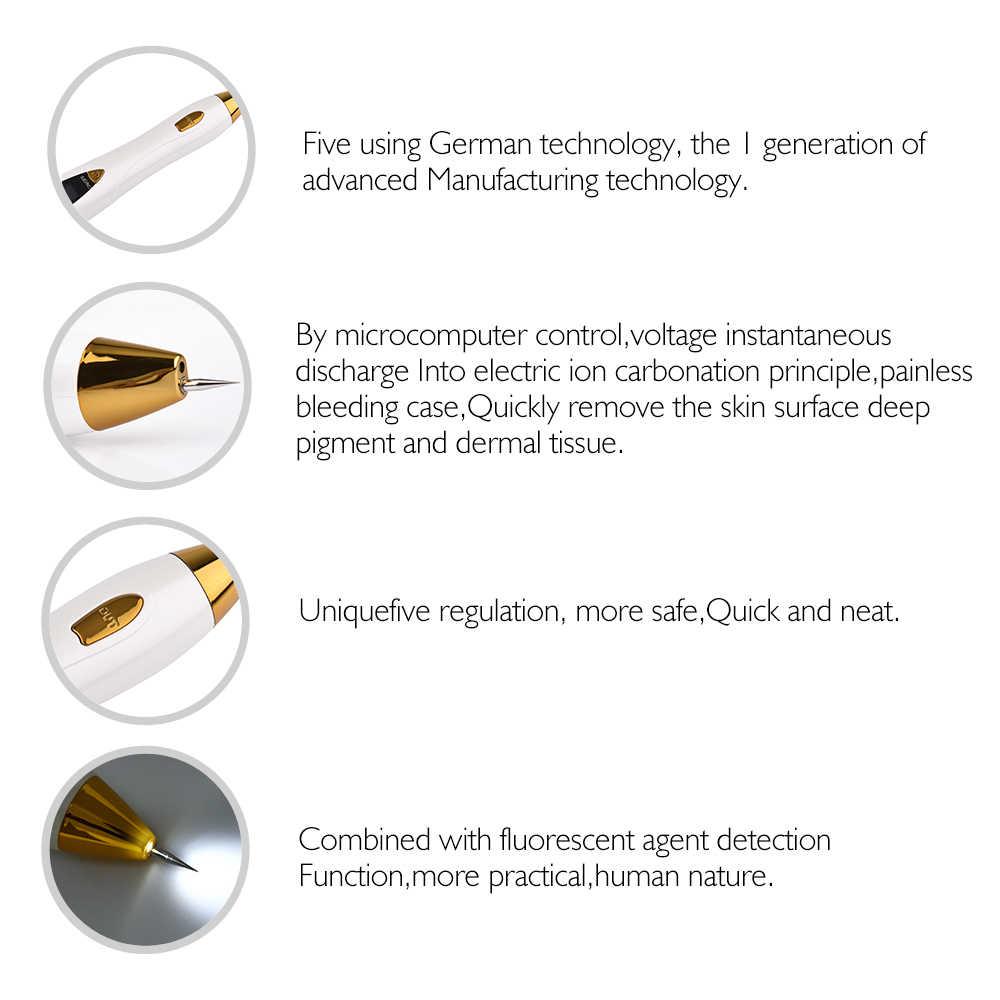 9 niveles pluma de pecas tatuaje limpieza Mole eliminación verruga mancha removedor láser herramienta máquina cuidado de la piel Dispositivo de salón belleza