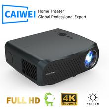 CAIWEI A12 1080P projektor Full HD WIFI Multiscreen projektor 1920x1080P SmartPhone Beamer 3D kino domowe kino wideo tanie tanio Korekcja ręczna CN (pochodzenie) Projektor cyfrowy 16 09 160W ANDROID 1920x1080 dpi 7000 lumenów 40-200 cali Led light