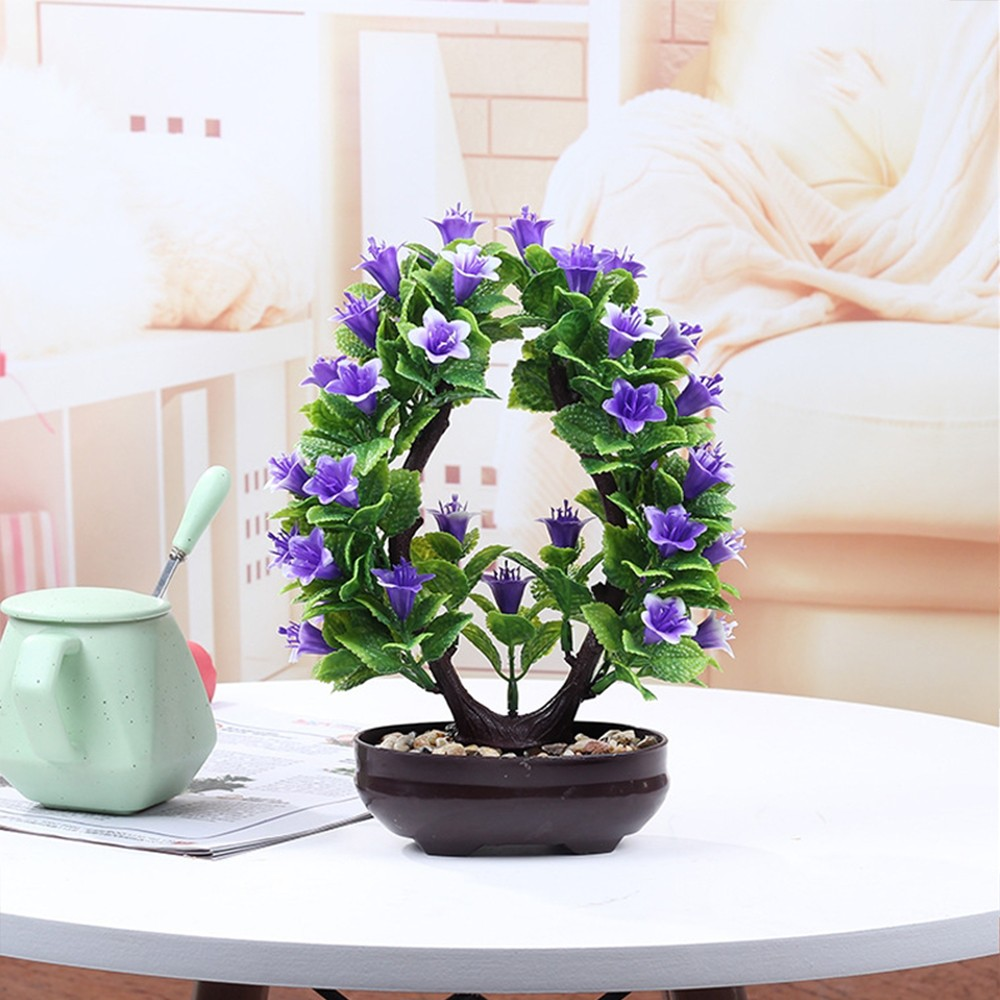 Simulation Horn Pine Plant Multi Fork Tree Potted Simulation Bonsai Craft Green Plant Decoration Indoor Desktop Decor Hot Sale in Artificial Plants from Home Garden