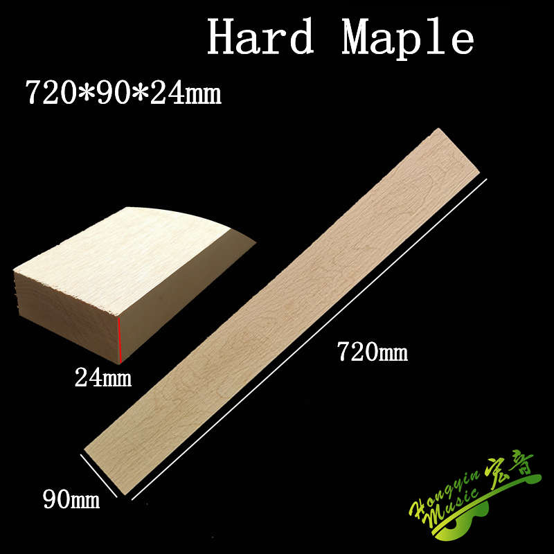 720*90*24mm Hard Maple Guitar Neck High Quality Wood  Electric Guitar Neck DIY Handmade Guitar Accessories