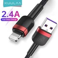 KUULAA-Cable USB de carga rápida para móvil, Cable de carga de datos para iPhone 12 11 Pro Max X XS 8 7 6 6s 5s iPad