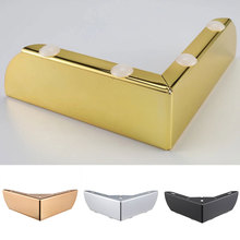 1Pc Metal Furniture Legs Right-Angle Sofa Feet Titanium Gold Matte Black Shape Furniture Feet Sofa Cabinet Cupboard Coffee Bar