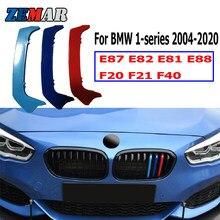 Zemar 3 peças abs, para bmw f20 f21 f40 séries 1 e87 e82 e81 e88 carro corrida grade guarnição acessórios do desempenho do grampo m