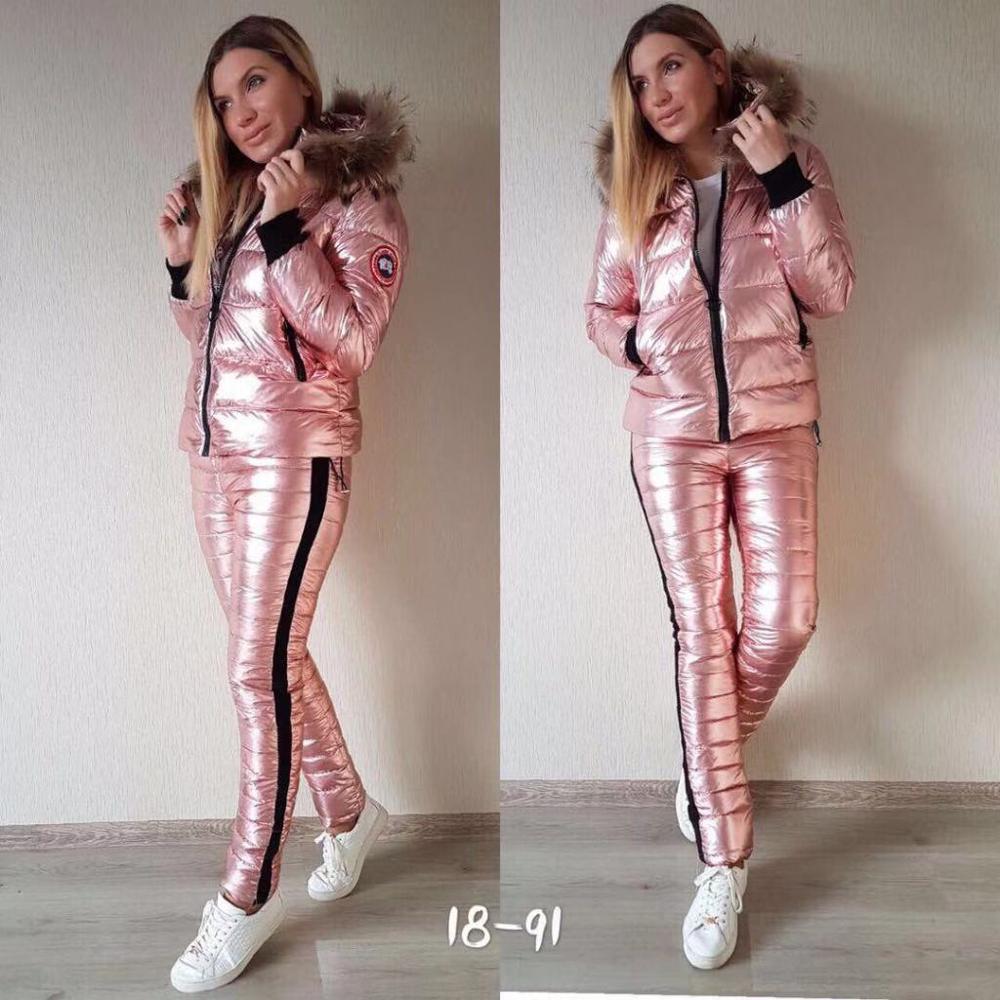 Women Winter Coat Glossy Parkas Hooded Jumpersuits Waterproof Jacket Slim Warm Thicken New