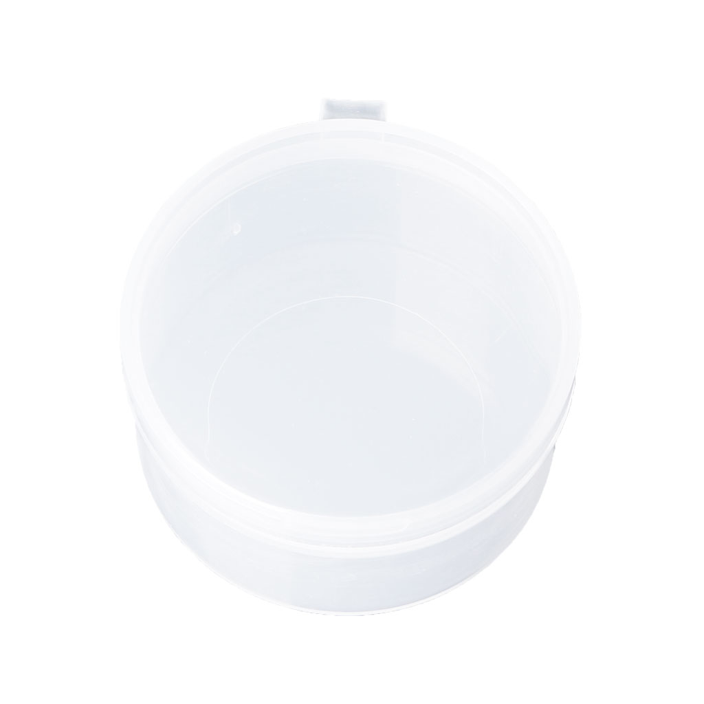 Round Clear Plastic Containers Beads Crafts Jewelry Display Storage Boxes Case