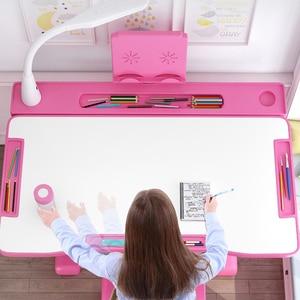 Children Desk Study Table And Chair Set Kids Ergonomic Desk Height Adjustable Girls Boys Writing Desk Chair drawing table