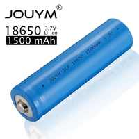 ICR 18650 Battery 1500mah 3.7V Lithium ion Rechargeable Battery for Flashlight LED Fan Cell Actual capacity 1500 mAh
