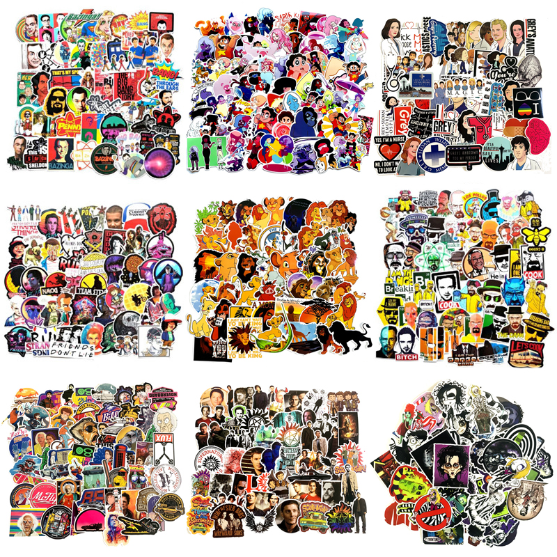 2019 NEW Stickers Classic Fashion Style Graffiti Stickers For Moto Car Suitcase Laptop Cartoon Anime Skateboard Sticker F3