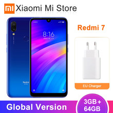 "In stock Global Version Xiaomi Redmi 7 3GB 64GB 4000mAh Mobile Phone Snapdragon 632 Octa Core 12MP Cameras 6.26"" HD Screen(China)"