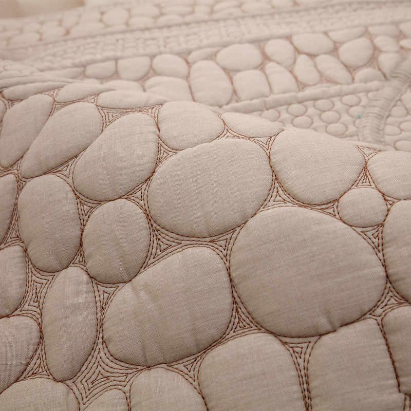 可逆無地綿小石ソファカバーノンスリップリビングルームのソファカバーユニバーサルキルティングソファタオルカバー