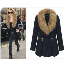 2020 модное пальто с меховым воротником зимняя женская шуба
