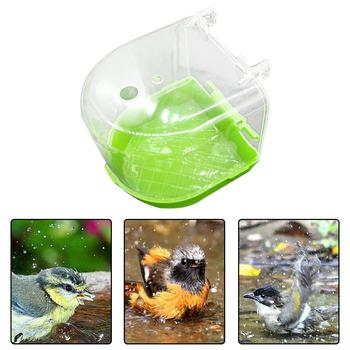 1Pcs Plastic Bird Water Bath Box Bathtub Parrot For Parakeet Lovebird Finch Pet Cage Hanging Bowl Parakeet Birdbath 1