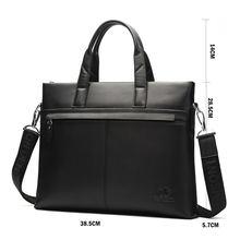 Bison denim черная деловая повседневная мужская сумка из натуральной