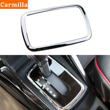 Carmilla ABS Chrome Car Gear Head Pedal Decorative Cover Shift Pedal Sticker for Ford Ecosport LHD AT 2018 2019 2020 Accessories