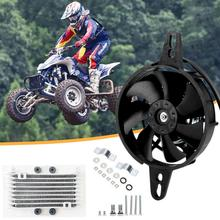 Motorcycle Oil Cooler Electric Radiator Cooling Fan Engine Radiator for 150cc 200cc 250cc ATV Quad Go Kart Buggy