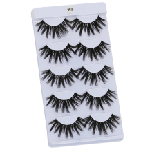 WOMELL 5 pairs natural false eyelashes fake lashes long makeup 3d mink lashes extension eyelash mink eyelashes for beauty
