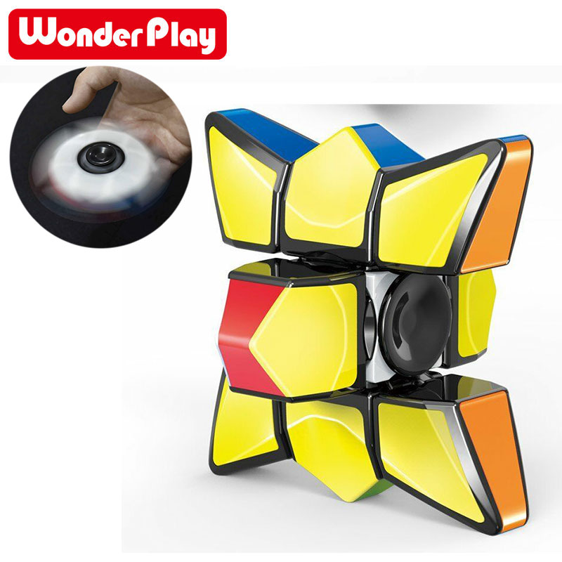 Magic Cube Finger Toys Spiner 1x3x3 Stress Relief Toys Colorful Puzzle Cube Spinner For Children Kids Gifts