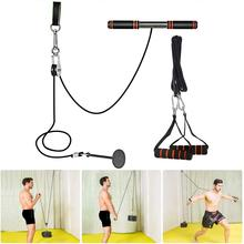 Fitness Arm Blaster Trainer with Pulley Attachments Triceps Workout Weight Lifting Home Gym Forearm