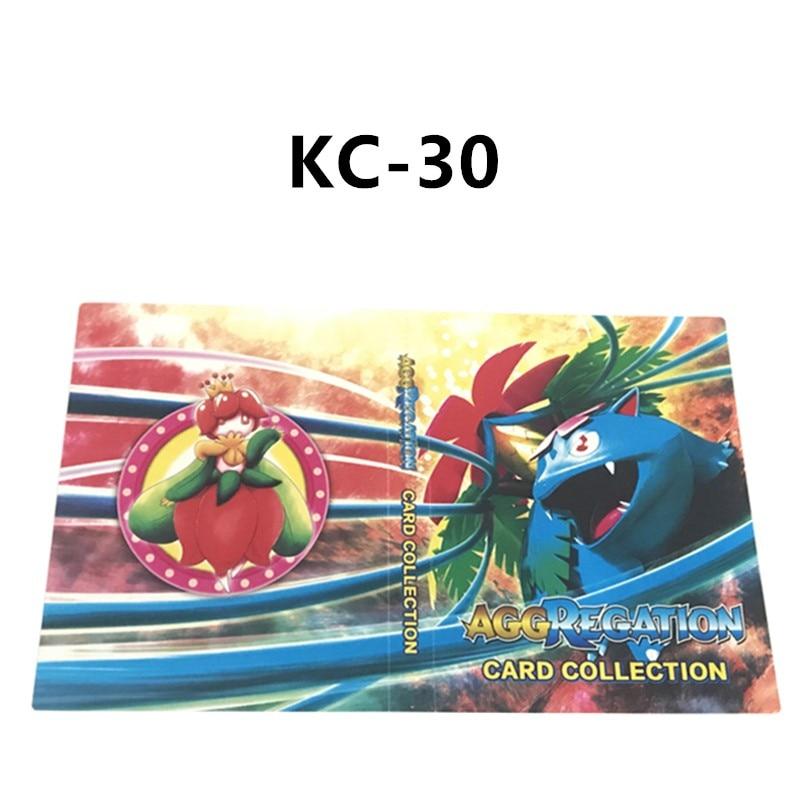 240 шт. держатель Альбом 24 стиля Покемон карты Альбом Книга мультфильм аниме карманный монстр игрушка Пикачу для детей подарок - Цвет: KC-030