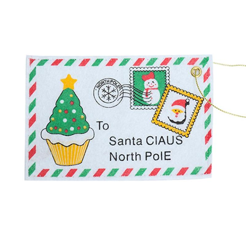 Hot Sale Christmas Envelope Velvet Cloth Harmless Xmas Tree Hanging Ornament New Year Christmas Card Candy Bag Decoration