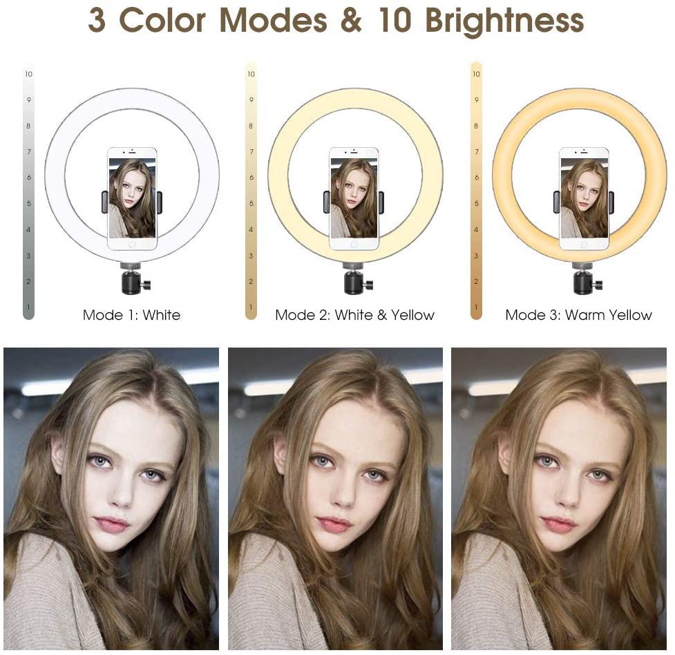 """6"""" светодиодный селфи Кольцо света с штатив и USB фотографического освещения заливки видео светильник с регулируемой яркостью освещения для селфи макияж Ютуб"""